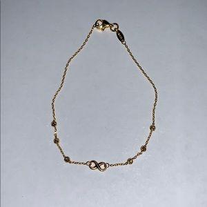 21k Gold Infinity bracelet